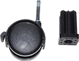 "Weber # 99241-2-1/2"" Stem Style Locking Swivel Caster with Insert."