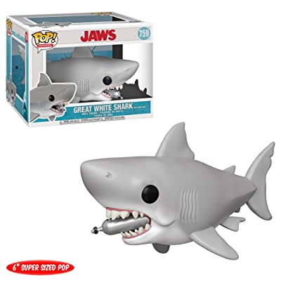 "Funko Pop! Movies: Jaws - Jaws with Diving Tank 6"": Toys & Games"