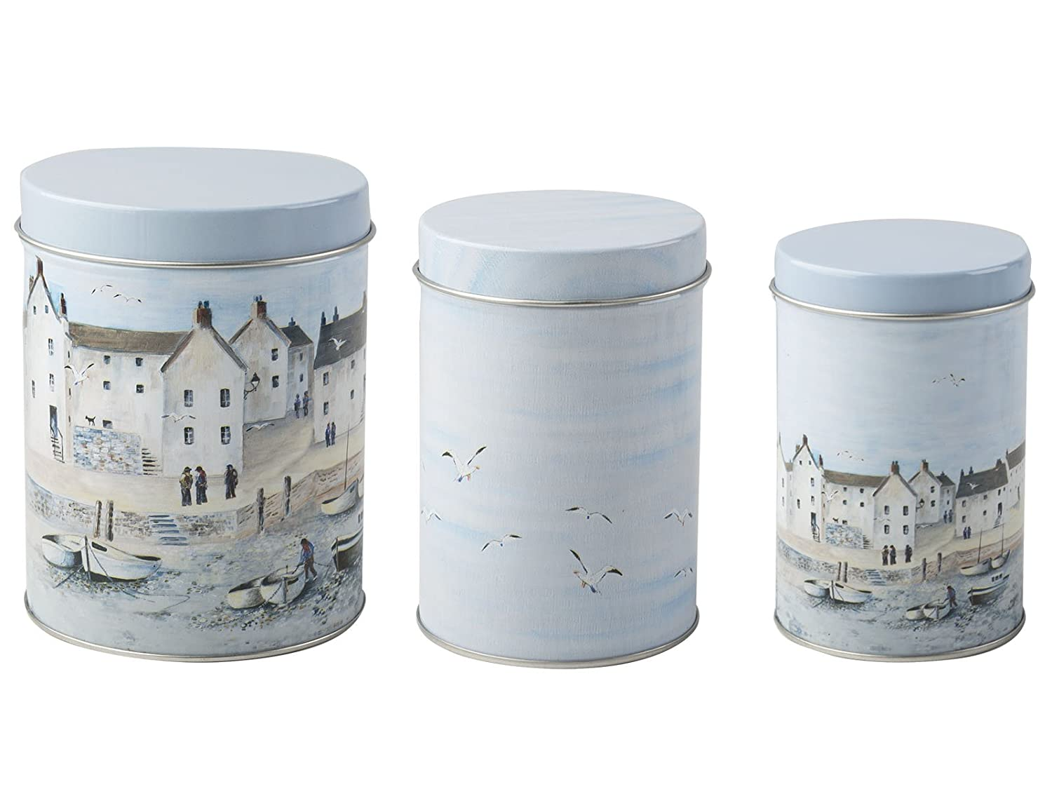 Creative Tops Cornish Harbour Set of 3 Storage Tins 5199903