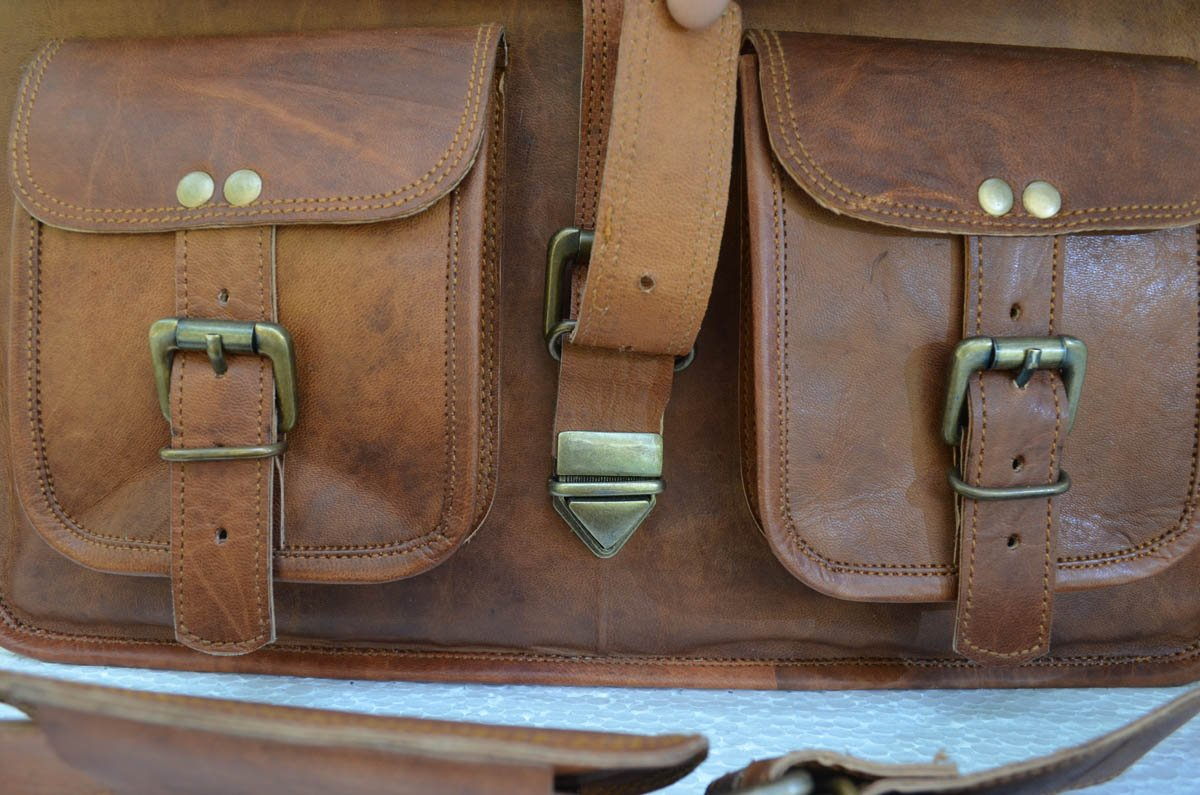 KPL 14 Inch Leather Purse Women Shoulder Bag Crossbody Satchel Ladies Tote Travel Purse Genuine Leather