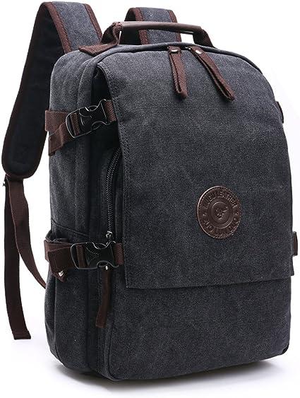 luniversit/é randonn/ée les voyages Sac /à dos homme 15.6 Sac /à Dos Ordinateur Portable sac /à dos en toile Sac d/école pour le travail le camping