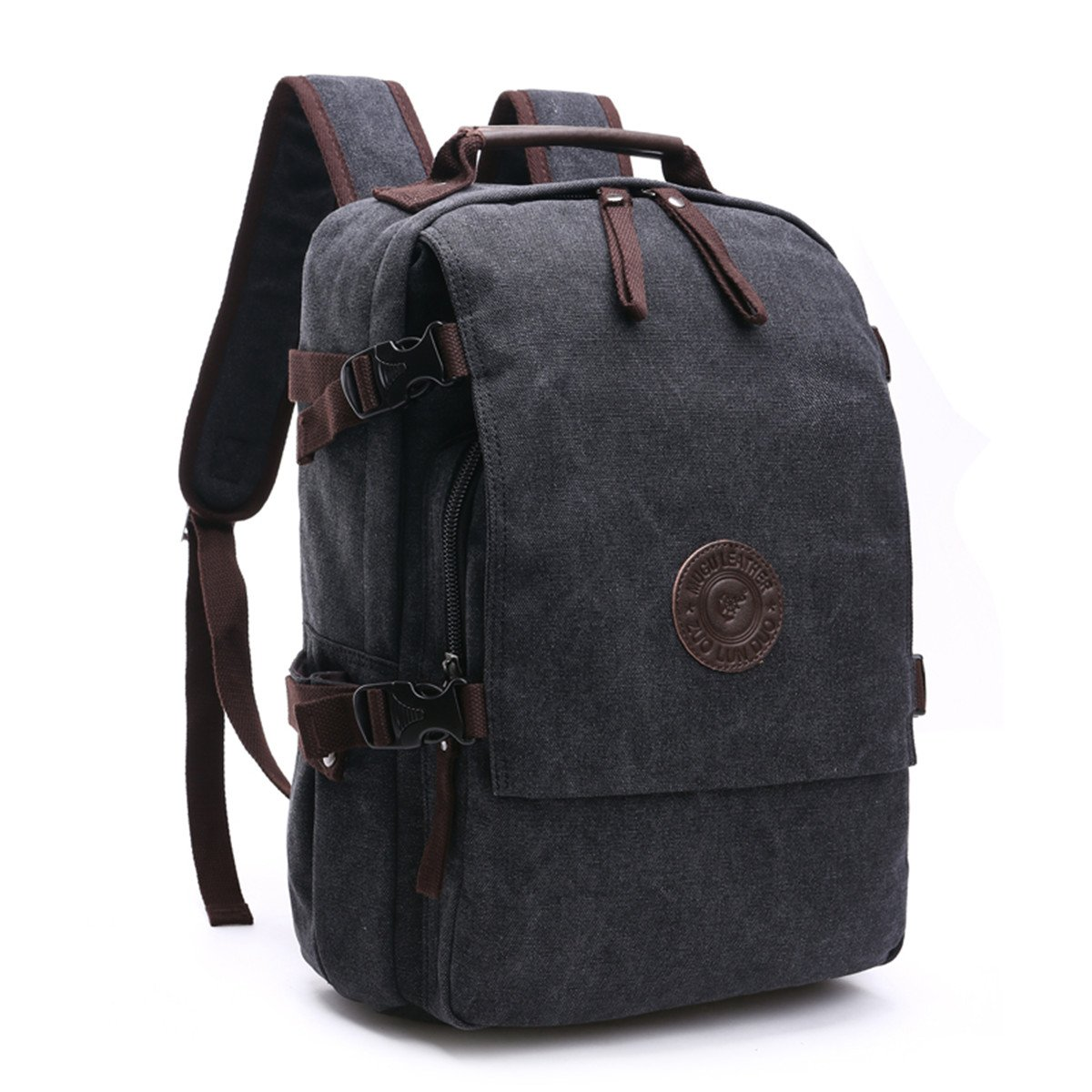 a2c37668f Loietnt Laptop Backpack,Vintage Casual Canvas Backpack Travel Rucksack  Satchel Backpack Camping Backpack for Men School/Hiking/Outdoor Casual  Daypacks ...
