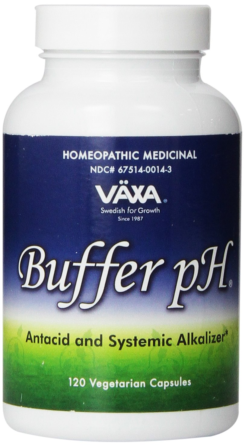 VAXA Homeopathic Medicinal Systemic Alkalizer for Buffering an Acid pH System, Buffer-pH, Capsules , 120 capsules by VAXA