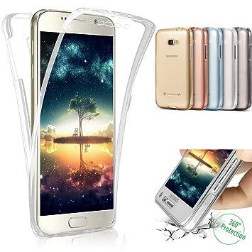 Funda Galaxy A5 2017,Carcasa Galaxy A5 2017,Transparente TPU Silicona 360°Full Body Fundas Skin Cover Resistente Anti-Arañazos Smart Carcasa Silicona ...