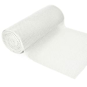 BNYD Grip Liner Non-Adhesive Shelf Liner, Anti-Slip Mat Drawer Liner 12 in. x 20 ft. (White)