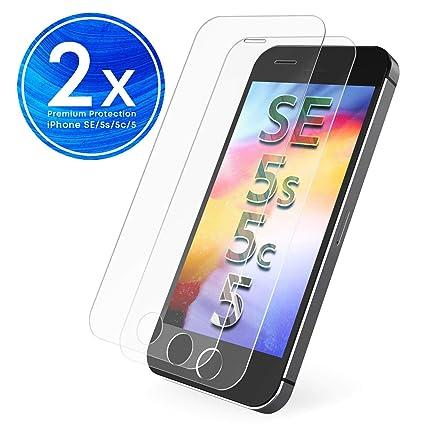 6e7666a189a UTECTION 2X Protector de Pantalla para Apple iPhone SE / 5S / 5C / 5 ...