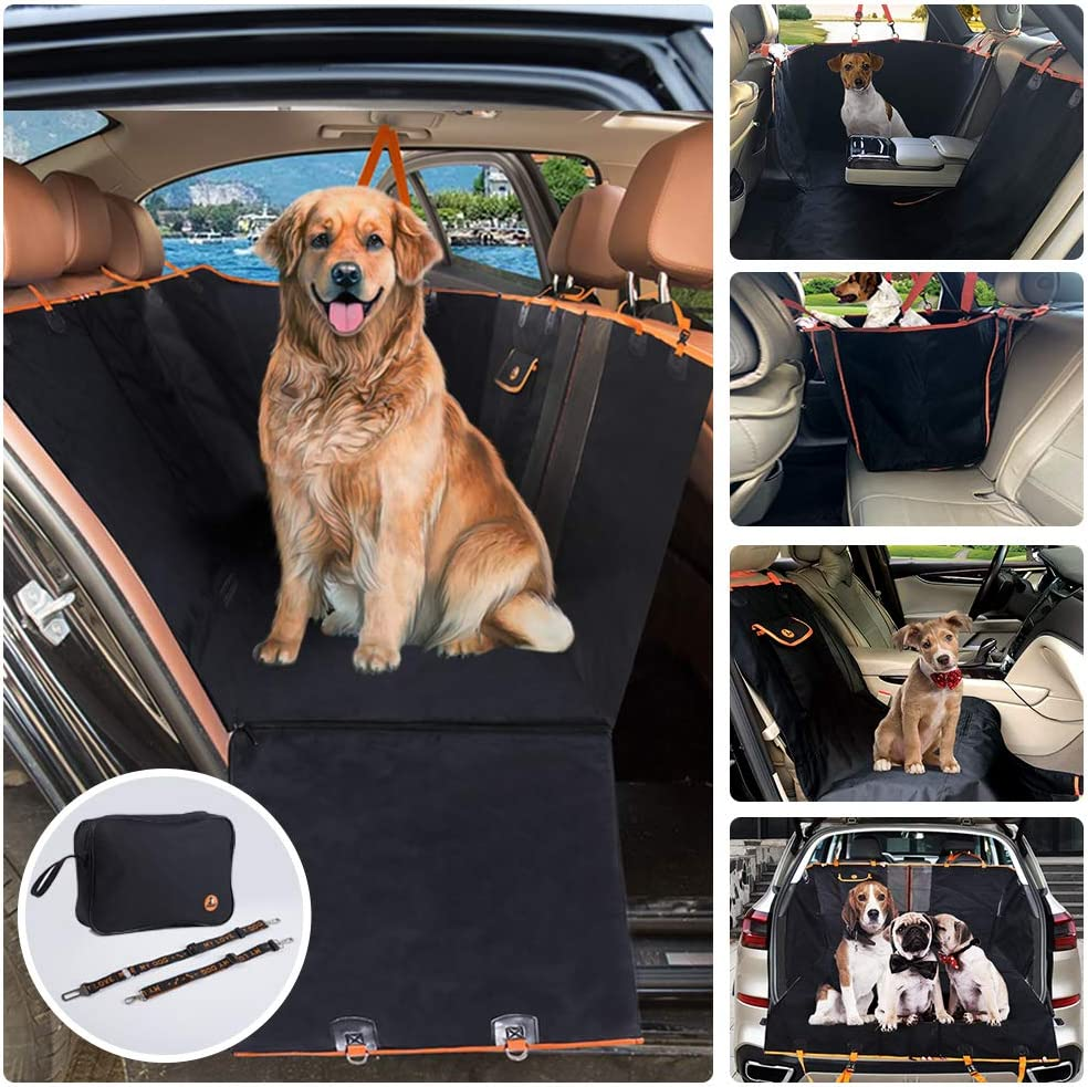 MOVEPEAK Waterproof Seat Cover for Dogs Scratch Proof, Nonslip Heavy Duty Pet Dog Seat Keeps Your Car Seats Clean Pet Seat Cover Fits Cars, Trucks SUVs