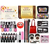 adbeni Combo All in One Make Up Set(Multicolour) - Pack of 38