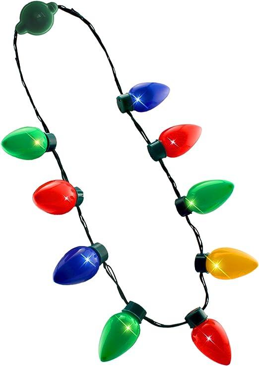 Christmas Retro Large C7 Bulb Necklace Light Up Flashing 9 LED Lights Xmas Decor