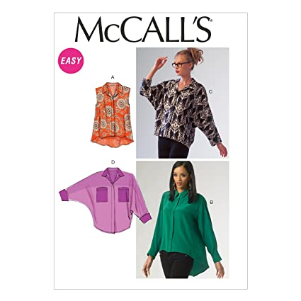 McCalls Patterns MC 6840 ZZ - Patrones para blusas (tallas ...