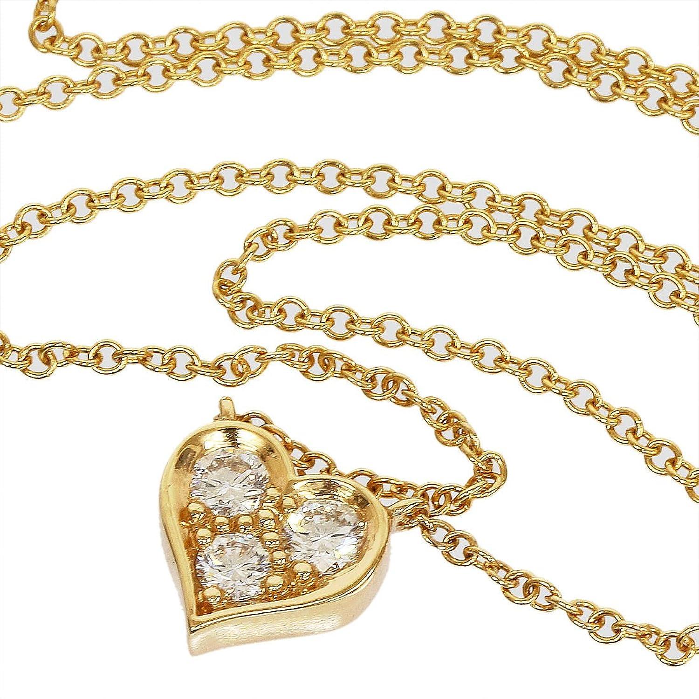 (ティファニー)Tiffany センチメンタルハート 3Pダイヤ ネックレス K18PG 中古 B01ABOW19M