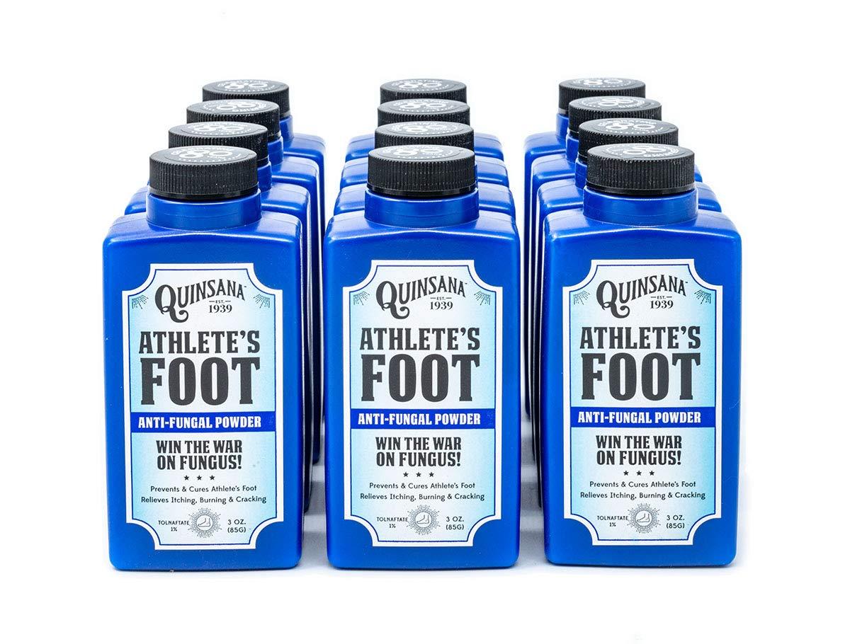 Quinsana Athlete's Foot Anti-fungal Powder - Twelve 3-oz Bottles by Quinsana
