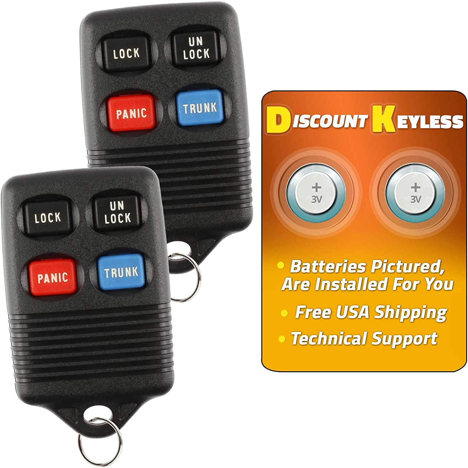 Discount Keyless Replacement Trunk Key Fob Car Entry Remote Compatible with Ford GQ43VT4T