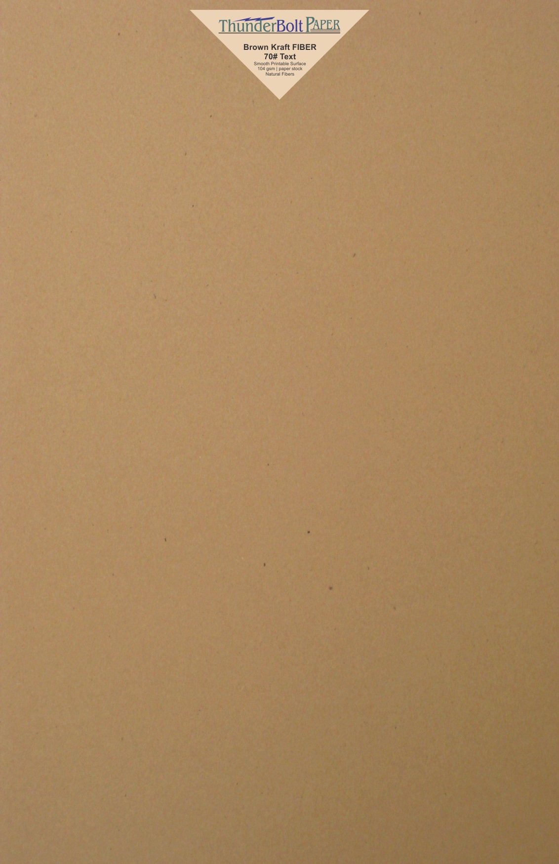 50 Brown Kraft Fiber 28/70 Pound Text (Not Card/Cover) Paper Sheets - 11'' X 17'' (11X17 Inches) Tabloid|Ledger|Booklet Size - Rich Earthy Color with Natural Fibers - Smooth Finish
