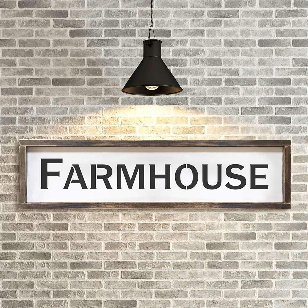 Amazon Com Cutting Edge Stencils Vintage Farmhouse Sign Stencil Reusable Diy Rustic Farm Decor Large Home Kitchen