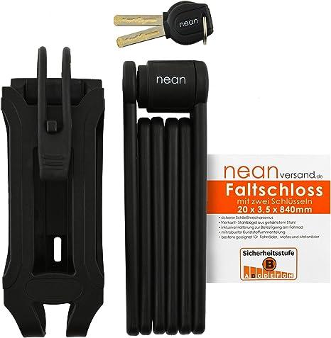 Nean - Candado plegable para bicicleta (2 llaves de seguridad, 20 ...