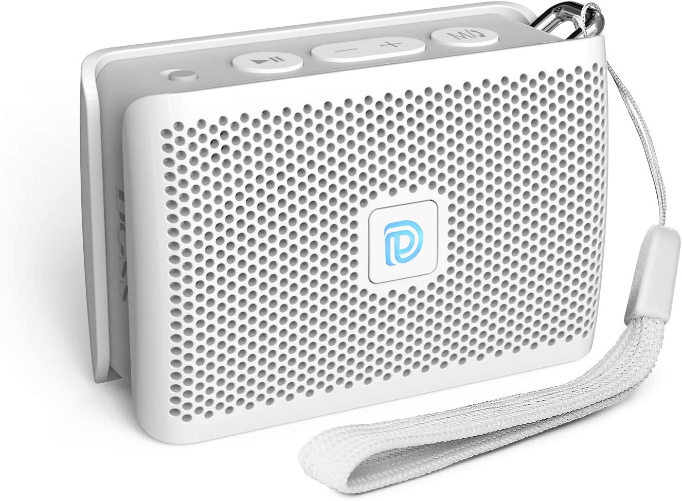 DOSS Genie Portable Bluetooth Speaker with Clean Sound, 33ft Bluetooth Range, Built-in Mic, Ultra-Portable Design, Wireless Speaker Compatible for Home, Outdoors, Travel - White