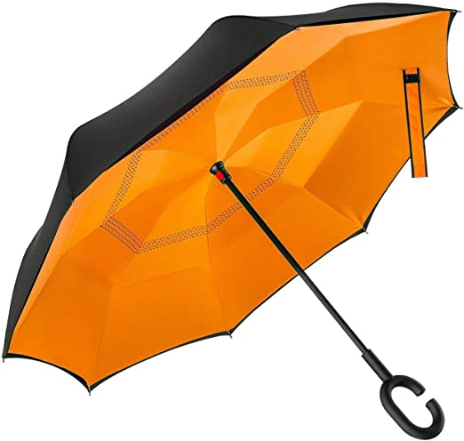Double Layer Inverted Inverted Umbrella Is Light And Sturdy Back School Seamless Background Eps10 Reverse Umbrella And Windproof Umbrella Edge Night
