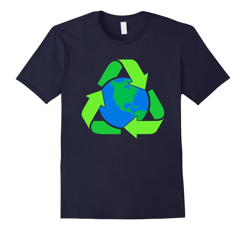 Recycle Earth Symbol T shirts Lets Go Green T shirts-Vaci