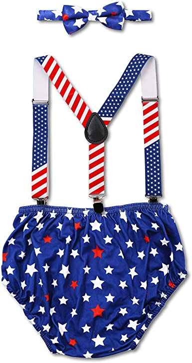 FYMNSI Baby Boy Cake Smash Outfit Necktie Bloomers PP Pants Set 1st 2nd First Birthday Party Photo Props Toddler Kids Bottom Pre-Tied Gentleman Costume Formal Suit Photography Clothes Set for 3-24M