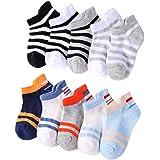 Aipark 10 Paires de Chaussettes Courtes en Coton pour Garçons Filles, Socquettes Enfants avec Motif Sympa, Tiennent bien en Machine de Lavage
