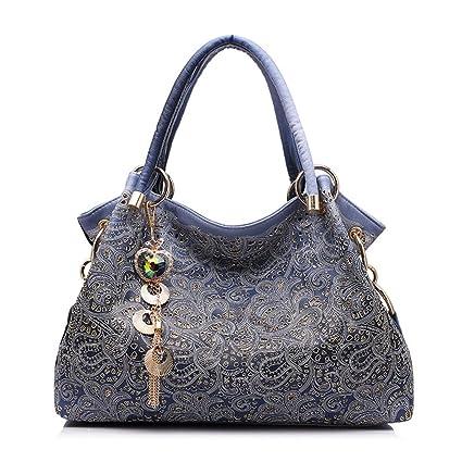 d012a628e3 Women Handbags Hollow Out Ombre Floral Print Shoulder Crossbody Bags Ladies  Pu Leather Totes Fashion Messenger