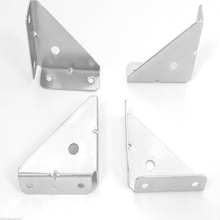 4 X CORNER BRACE HEAVY DUTY 50MM ANGLE BRACKET REPAIR PLATE CABINET  CUPBOARD FIXING