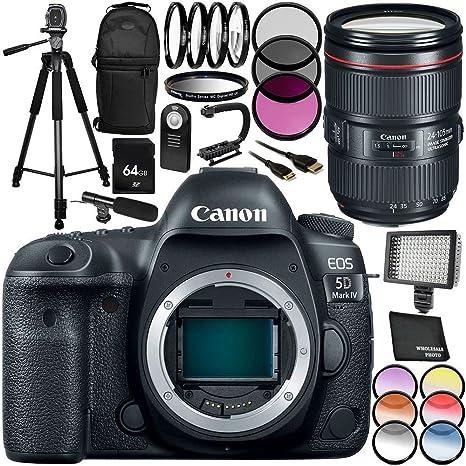 Canon EOS 5D Mark IV cámara DSLR con EF 24-105 mm f/4L IS II