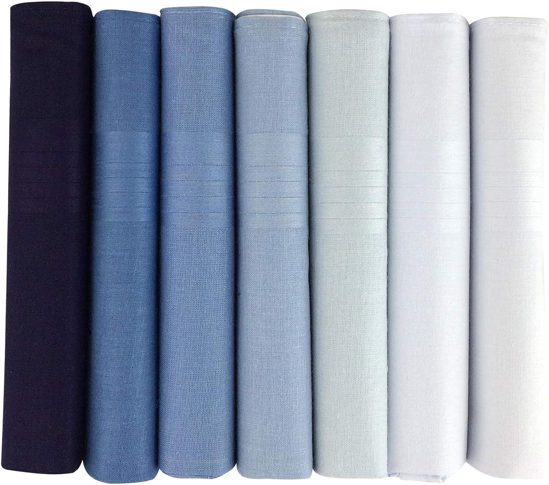 One Stop Eshop - Pañuelos de bolsillo para hombre (100% algodón, 7 ...