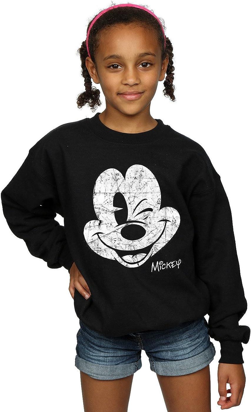 Disney Girls Mickey Mouse Face Sweatshirt