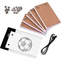 Ftiqe Flip Book Kit with Light Pad LED Light Box Tablet 300 Sheets Drawing Paper Flipbook with Binding Screws for…