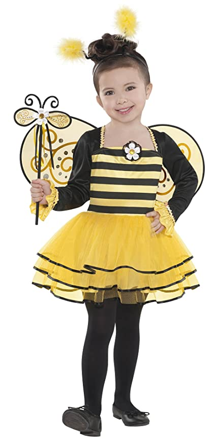 Amazoncom Amscan 841853 Girls Ballerina Bee Costume Toddler 3 4