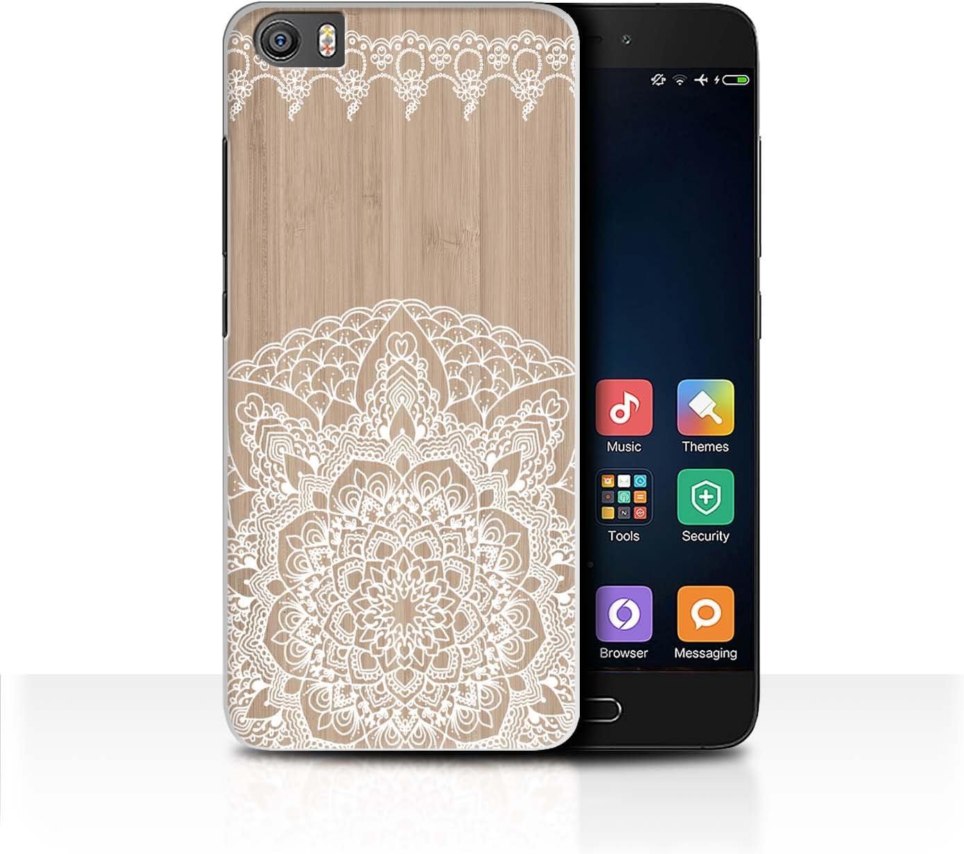 Stuff4 Carcasa/Funda Dura para el Xiaomi Mi5/Mi 5 / Serie: Fina Madera de Encaje - Mandala de Bambú