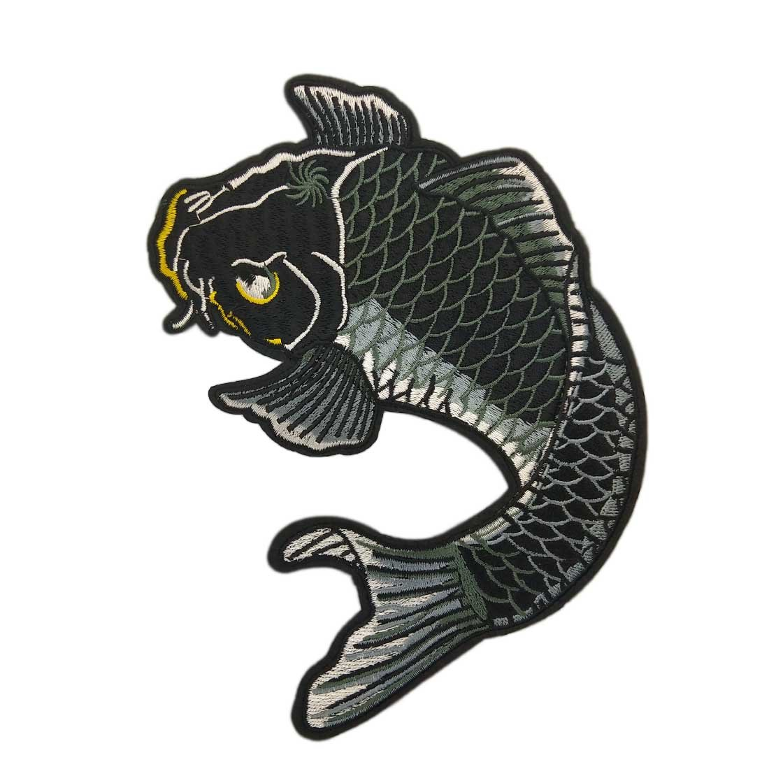 Amazon com 7 5 diy koi iron on patch embroidered appliques clothes patch sewing fancy carp patch chinese embroidery appliques