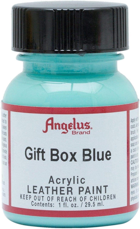 Angelus Acrylic Leather Paint - gif box blue