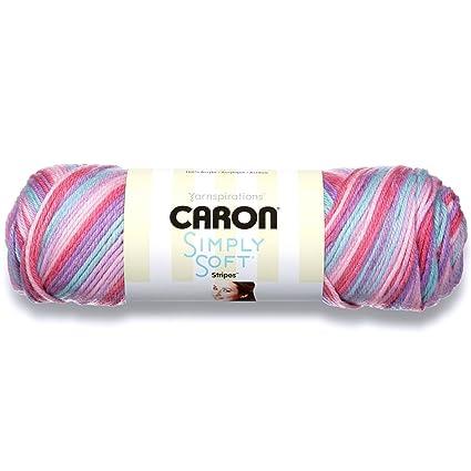 f6931c0efc4 Amazon.com  Caron Simply Soft Yarn (4) Medium Worsted Gauge 100% Acrylic -  5oz - Times Square - Machine Wash   Dry