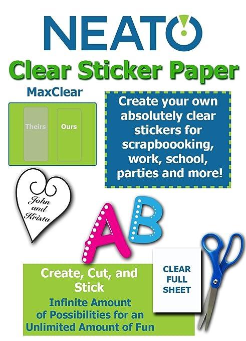Printable Transparent Sticker Paper - 8 5