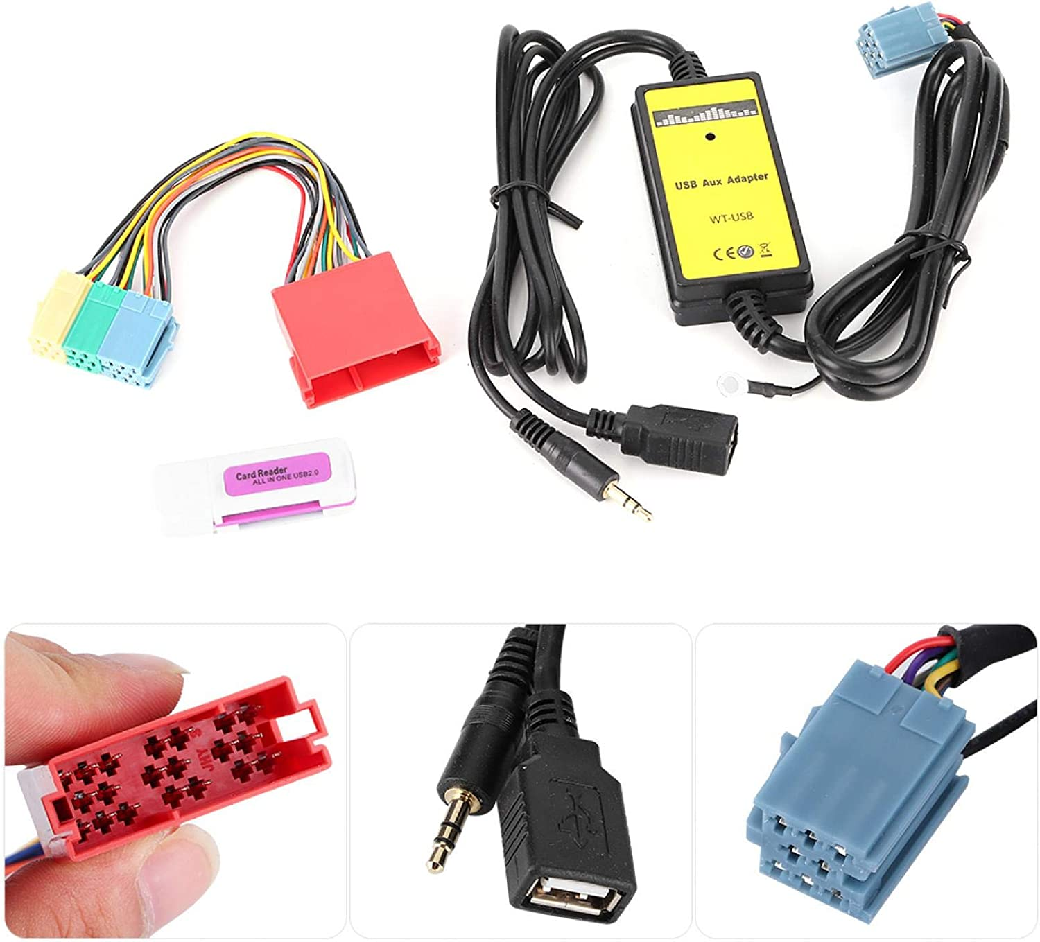 20Hz-20KHz Changer MP3 Audio Interface Car AUX Adapter Professional 8Pin CD Mini for Car Accessory