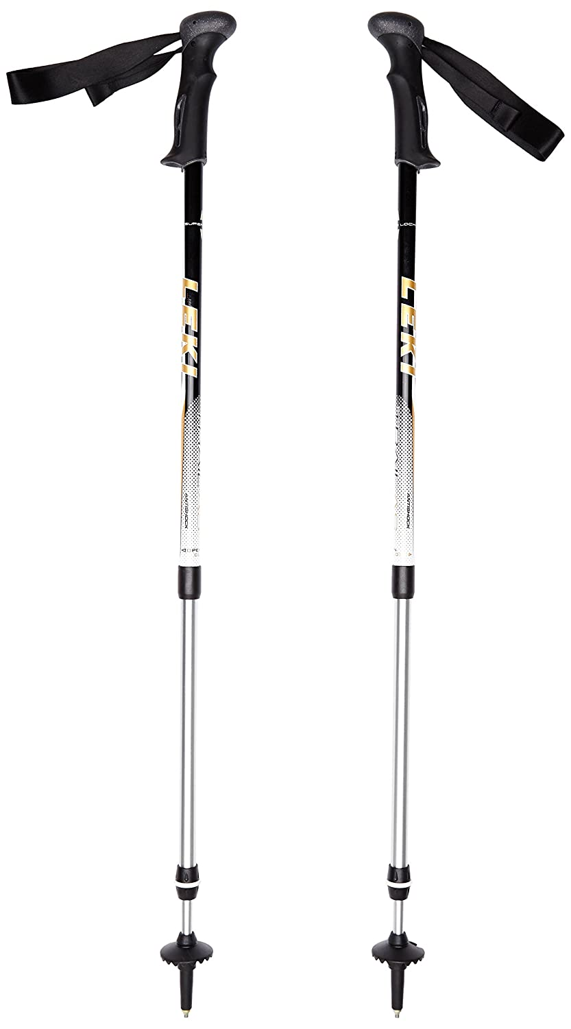 LEKI Wanderstock Trail AS, Black/Gold, 69-145, 634-2035