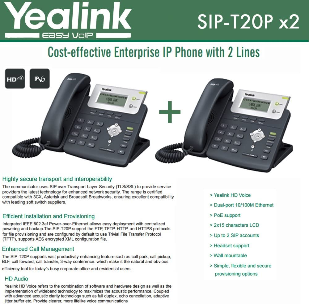 Yealink SIP-T22P NEW IN BOX Advanced IP Phone with POE