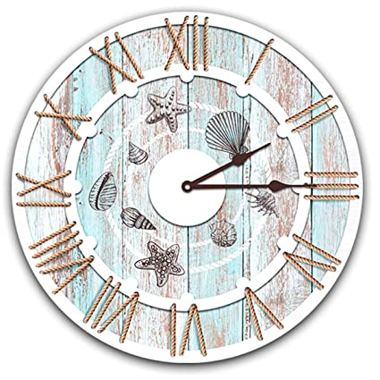 Les Trésors De Lily Q8270 Horloge Murale Monde Marin