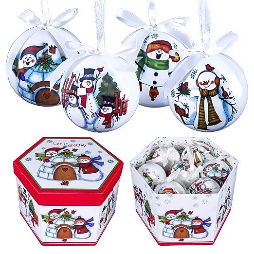 The Christmas Workshop 14 Piezas 75 mm Bolas de Navidad dise/ño de Decoupage