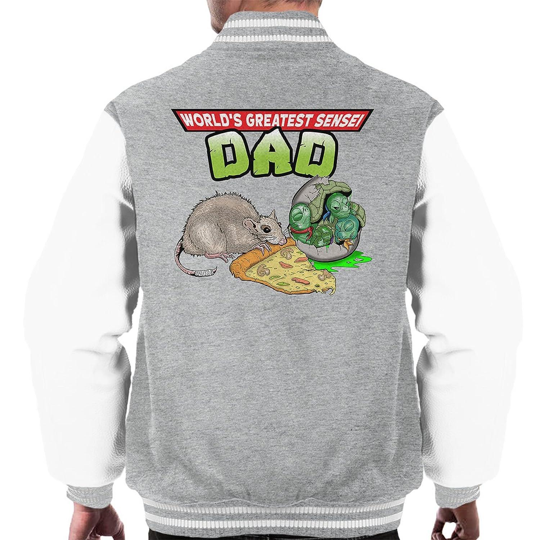 Worlds Greatest Sensei Dad Splinter Teenage Mutant Ninja Turtles Men's Varsity Jacket
