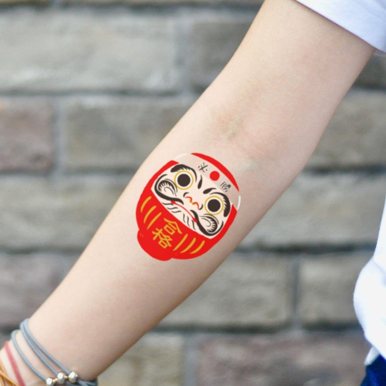 Tatuaje Temporal de Muñeca Daruma (2 Piezas) - www.ohmytat.com ...