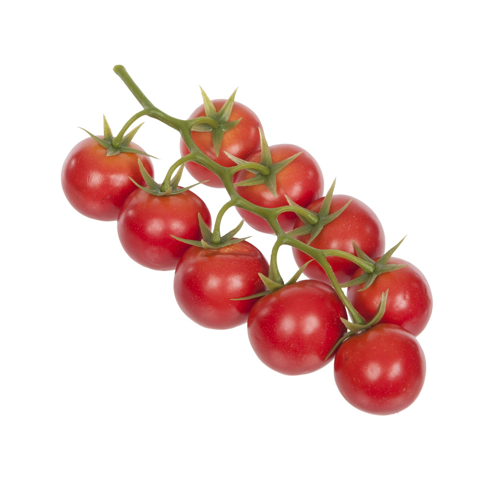 FloristryWarehouse Artificial Cherry Tomato 9 Red Fruits on the Vine 8.25 Inches Mock Summer Fruits by Floristrywarehouse