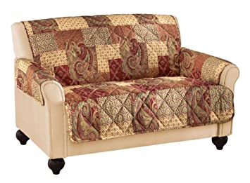 Super Collections Etc Paisley Floral Patchwork Furniture Protector Cover Brown Loveseat Gmtry Best Dining Table And Chair Ideas Images Gmtryco