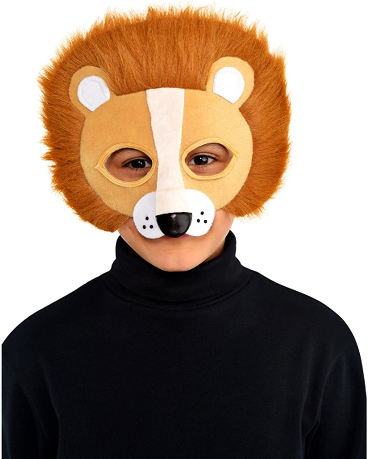 Fancy Dress Animal Costume Face Brown Children/'s Shaggy Dog Mask With Sound