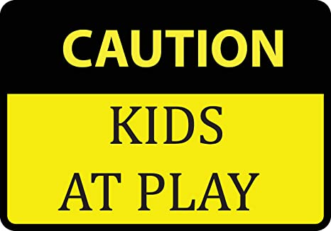 f0fc4dd28f153 Amazon.com : Caution Kids At Play Sign - Large Signs - Aluminum ...