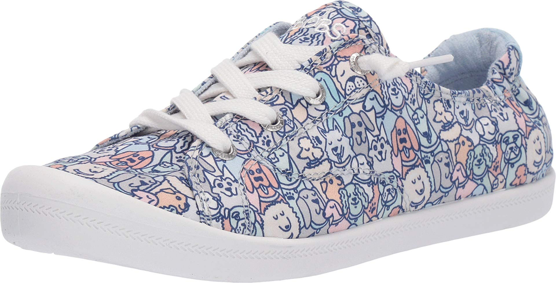 Skechers BOBS from Women's Beach Bingo - Woof Pack Blue/Pink 7.5 B US