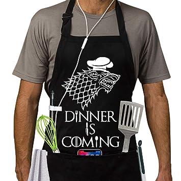 Famgem Delantales profesionales para barbacoa y cocina, inspirado en Juego de Tronos, regalo para